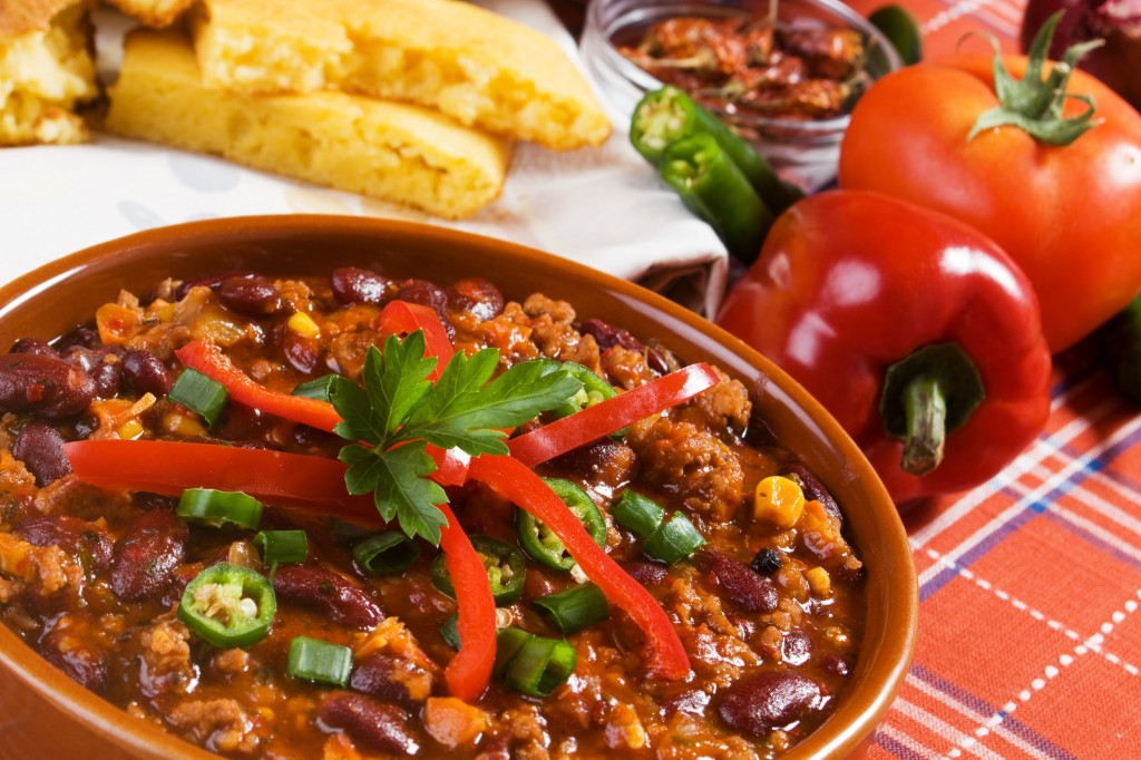 Beef chili in 4 easy steps
