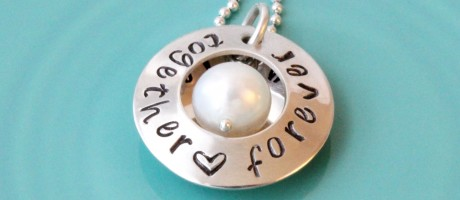 Hot jewelry trends: personalized hand stamped jewelry in sterling silver